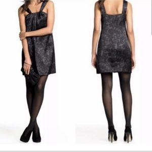 ❤️Banana Republic Silk Gray Black Lace Mini Dress